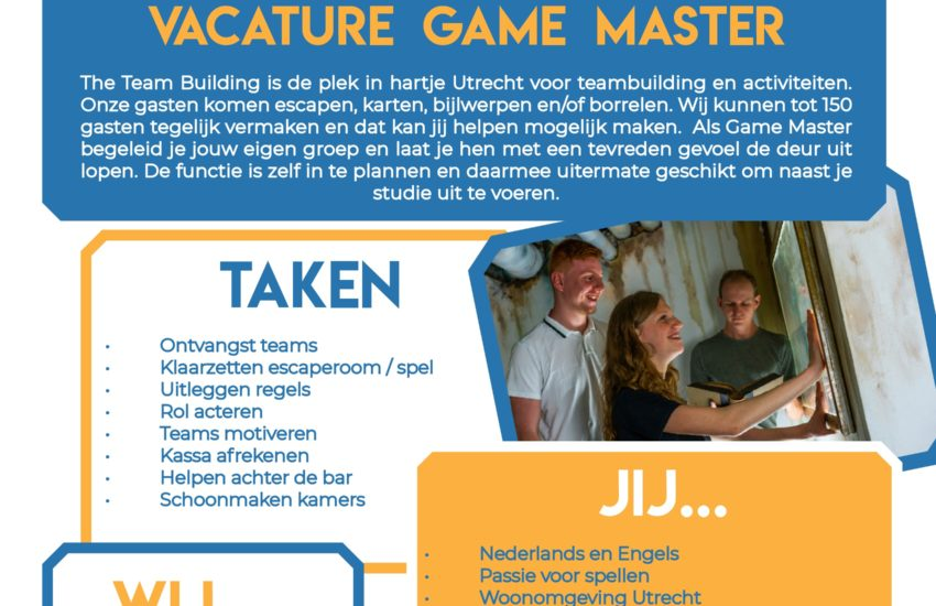 Vacature Game Master